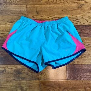 Blue and pink women's nike shorts size small